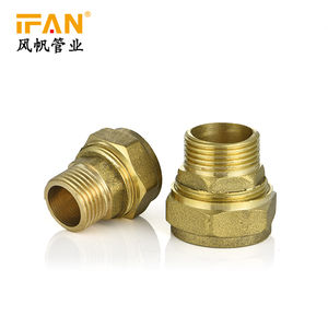 Male Thread Socket Coupling Connector Copper 1/2- 3/4-1 Compression fitting Pex Brass Fitting for pex-al-pex pipe