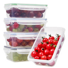 1000ml 5pcs Pack BPA-free Plastic Stackable Food Storage Container Set Meal Prep for Kitchen Food Storage