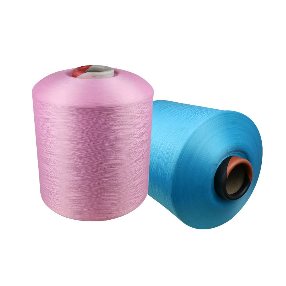 Polyester Filament Yarn Cheap Price 150/48 Dyed Color 100% Polyester Textured DTY Yarn For Sock