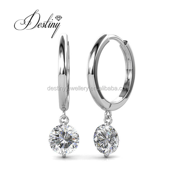 Destiny Jewellery fashion earrings , wholesale brass and crystal jewelry Valentine's Day present