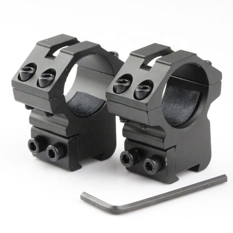 RIS0134 -- 2pcs Medium Profile 25.4mm Scopes Rings Fit For 11mm Picatinny Weaver Rail Mount