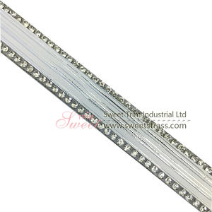 Hotfix คริสตัล rhinestone Applique เทป Hotfix glass trim Rhinestone applique เทป