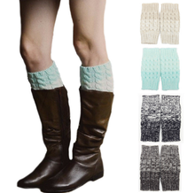 Womens Short Crochet Knitted Boot Cuffs Leg Warmers