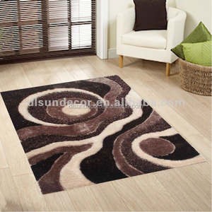 Polyester shaggy area tapis design