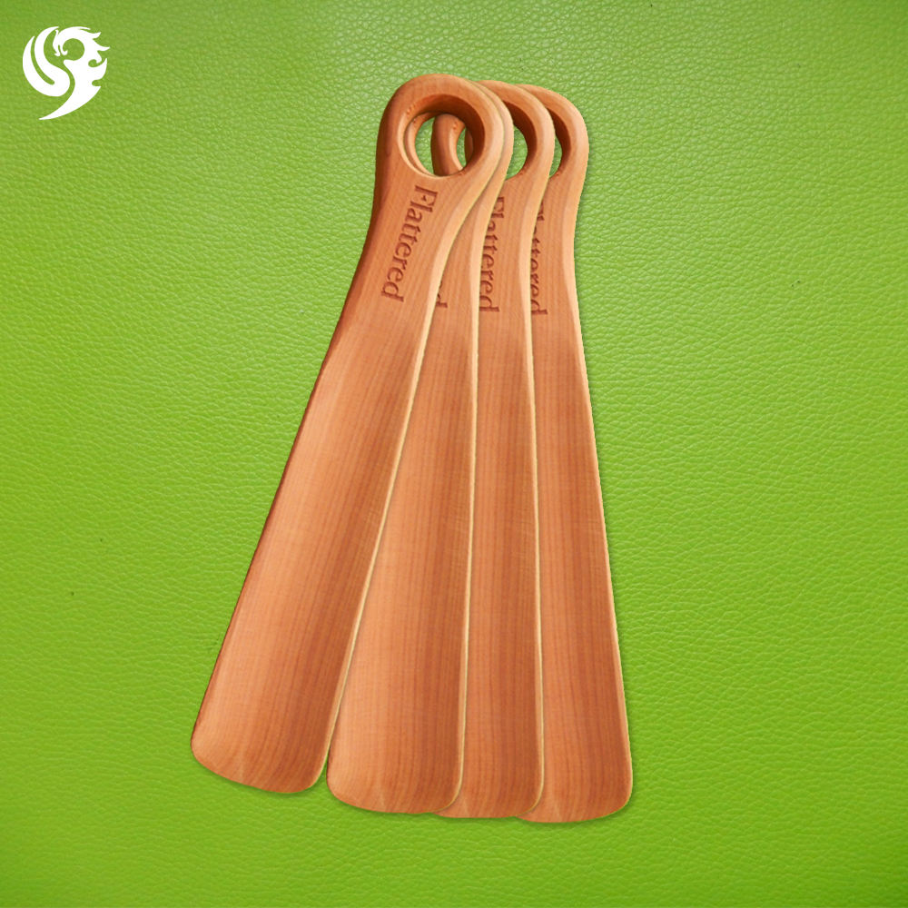 best quality wholesale custom logo wood shoe horn