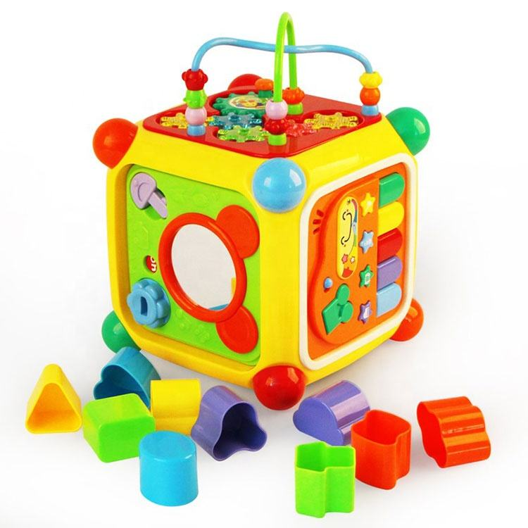 Kids Happy Intelligent Cube Bead Game Plastic Educational Toys Children
