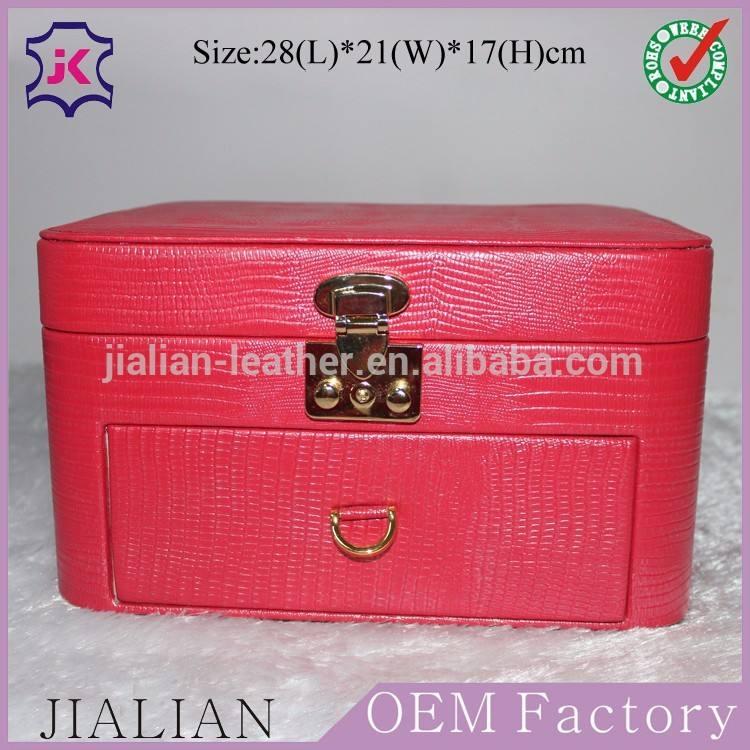 En cuir personnalisé bijoux cosmétiques boîte - cadeau pour montre, Collier, Boucles d'oreilles, Diamant boîte de bague