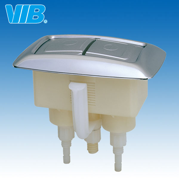 Square Toilet Dual Push Flush Button