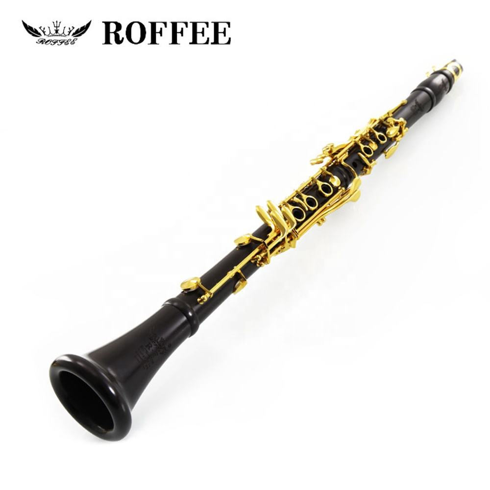 Professional Performance Level Ebony Wood body Gold Plated A Tone Clarinet 706