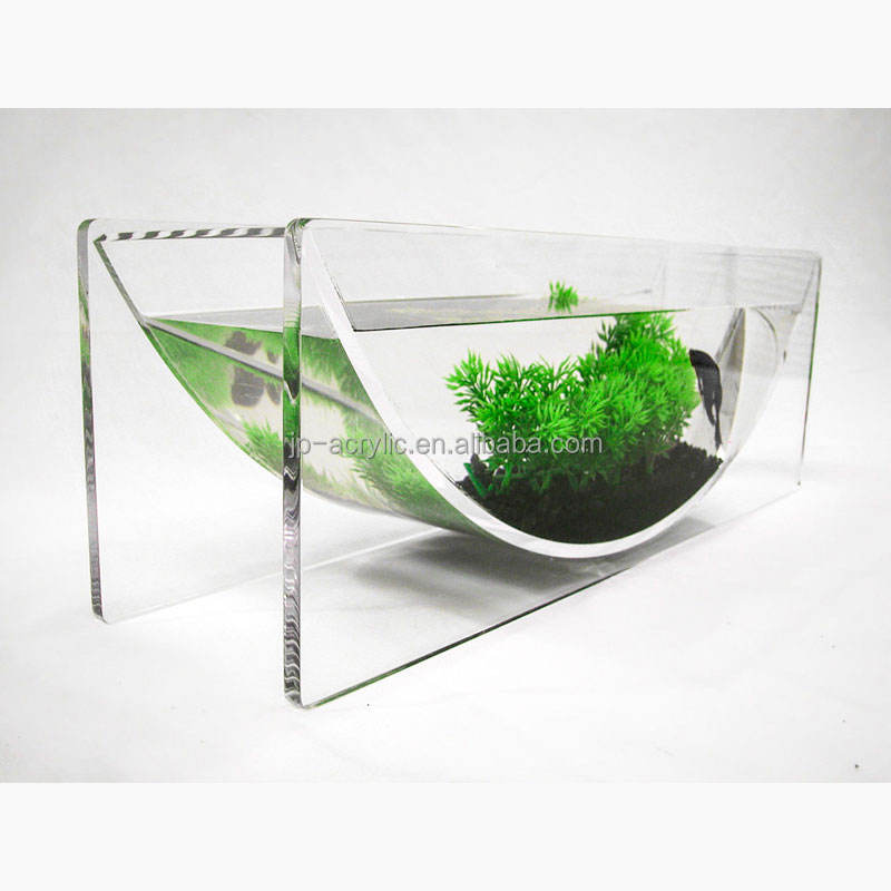 Aqua U Modern Tabletop From Clear Acrylic Fish Tank Acrylic Aquarium