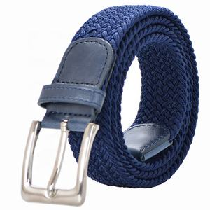 New Fashion Navy Mens Woven Elastic Braided Stretch Belt