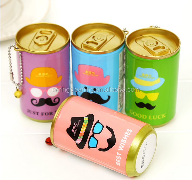 Cartoon Mini Canister Facial Wipes Face Cleaning Wet Wipes