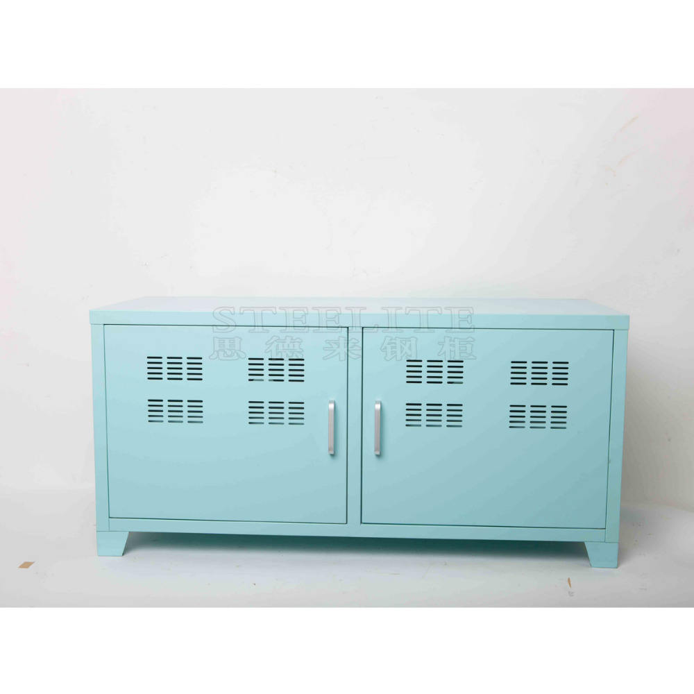 Modern Industrial Media Cabinet Metal Industrial TV Stand