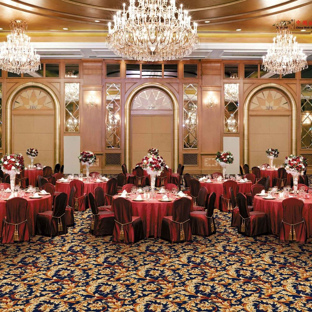 High quality suit for 5 star hotel Banquet Hall carpets broadloom cut pile Axminster carpet