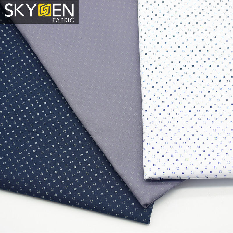 Skygen Fashion silky twill weave printed cotton floral material fabric for shirts men