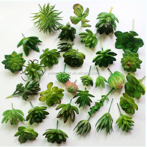 Factory mini fake plants plastic artificial succulent plants for decoration