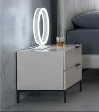 Cheap two drawers with metal frame bedside table