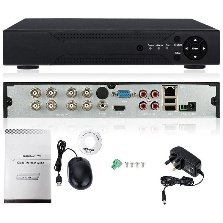 8CH 2MP 1080P TVI CVI AHD IP CVBS DVR HD CCTV 1080N 5 in 1 H.264 AHD DVR