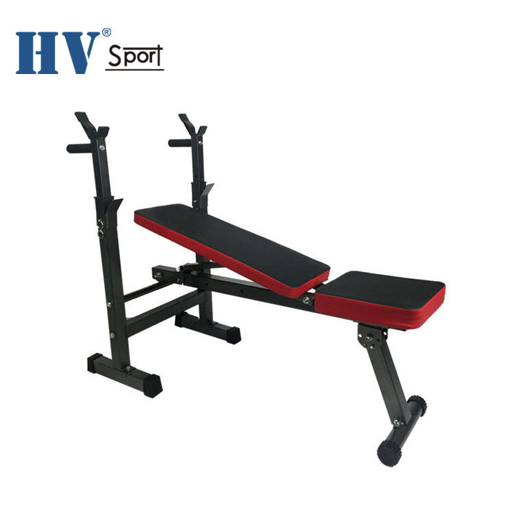 Folding portable adjustable weight bench