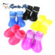 Colorful Cheap durable Silicone Waterproof Dog Rainshoes Pet Shoes