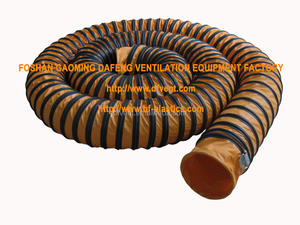 nylon spiral steel wire manufacturer flexible air duct pipe for air exhaust or waste gas for marine maintenance