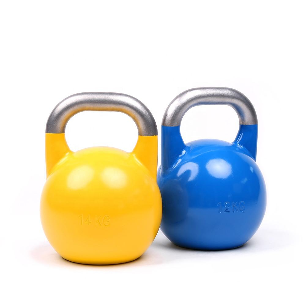 Colored power training steel competition kettlebell