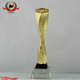 China Manufactured High Quality Torch Shape Sports Award Metal Mascot Memento Trophy