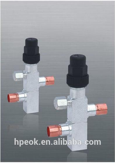 latón válvula de retención vertical con base de roscado para la refrigeración
