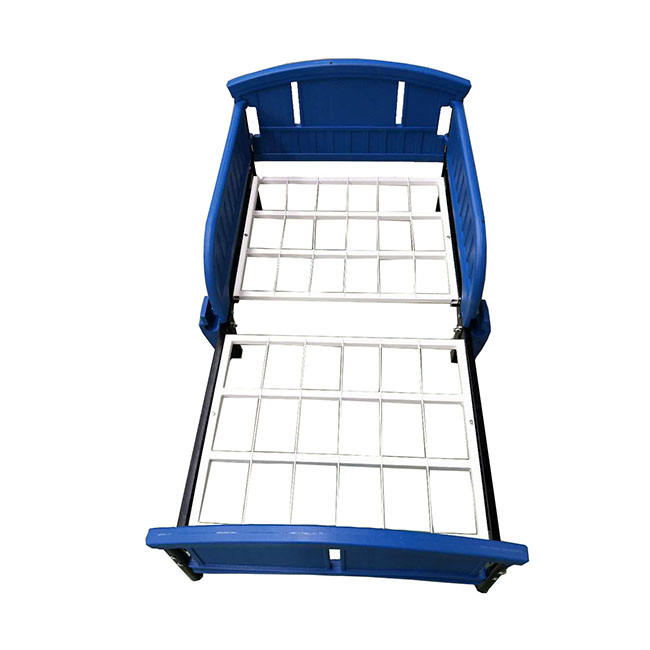 Plastic modern metal blue kids bed for 0-8ages