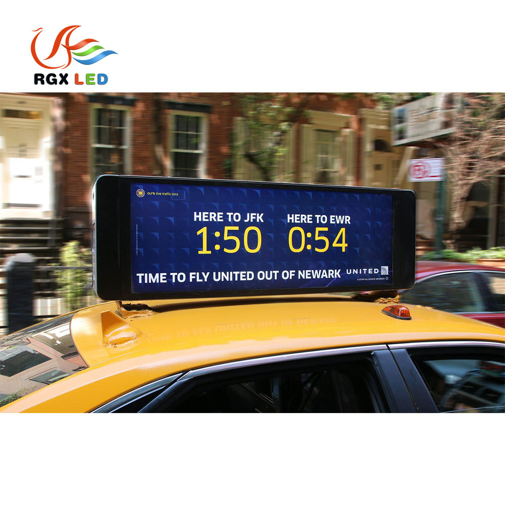 China Hersteller RGX Drahtlose <span class=keywords><strong>Taxi</strong></span> Led Top Licht Display Rgb P3 P4 P5 Outdoor Doppel Seite Led-bildschirm <span class=keywords><strong>Taxi</strong></span>