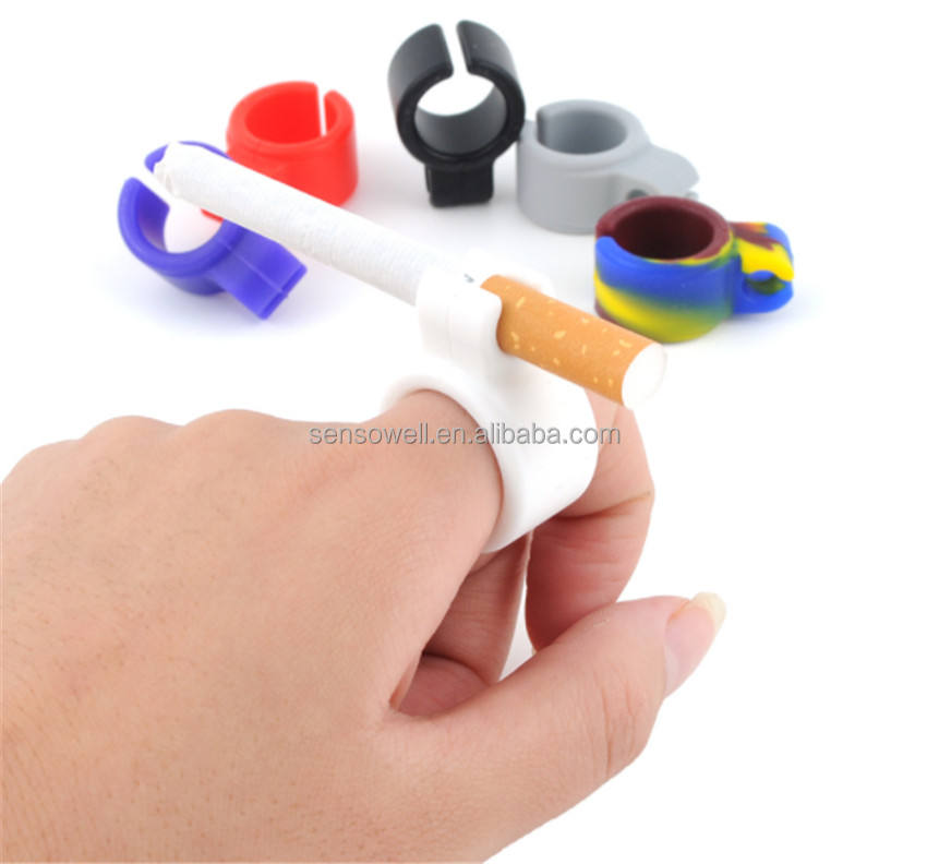 Novel Design Factory Unisex Cigarette Smoking Accessories Custom Silicone Holder Fit Universal Finger Rack Ring