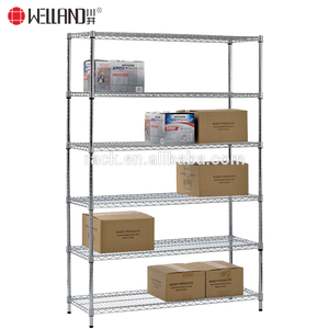 Modern Rack 6 Tiers Heavy Duty Iron Wire Shelving Chrome Metro Office Shelf Metal