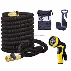 2019 Amazon best supplier 9 functions sprayer pvc expandable garden pocket water hose, flexible expandable garden hose