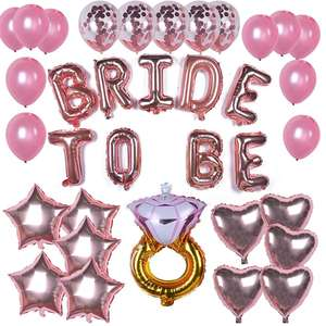 Yangyue Bridal Shower Bachelorette Party Decorations kit Rose Gold - Include Latex/Foil/Confetti balloons