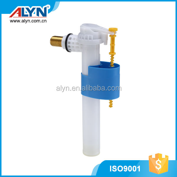 Anti-siphon ABS material wc tank parts toilet side fill valve cistern fitting
