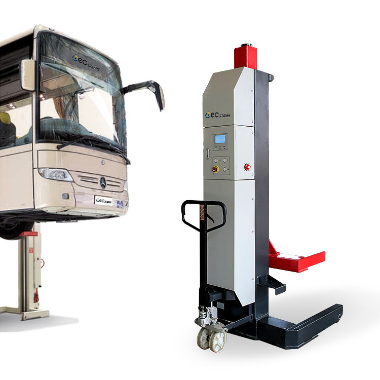wireless mobile column truck bus four post hydraulic car lift