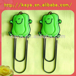 Novelty design eco-friendly 3d soft plastic clip bookmark