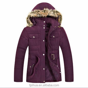 women winter long coat with fur hood