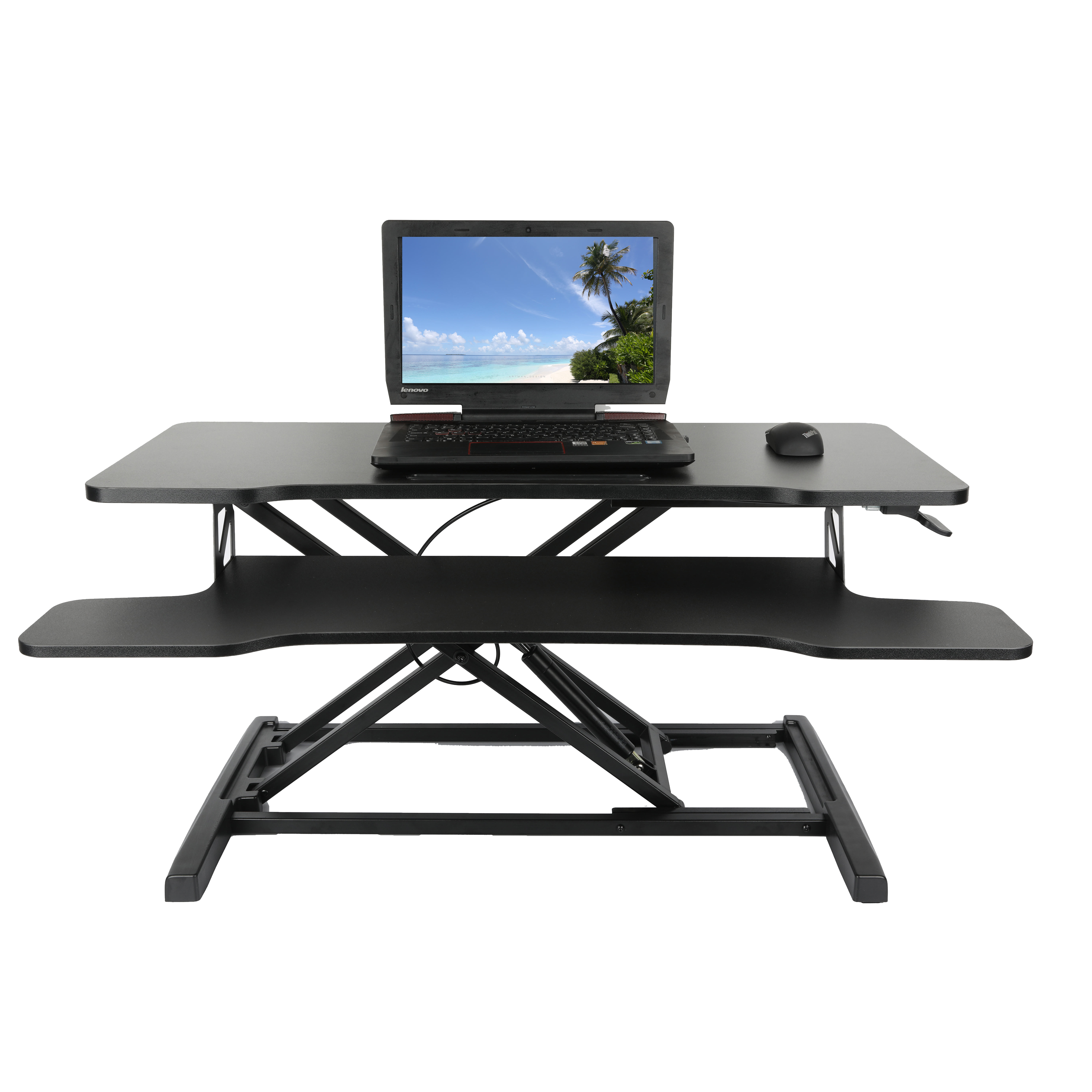 Amazon Hot Selling 36 inch Black Folding Adjustable Large Laptop Computer Sit Stand Desk