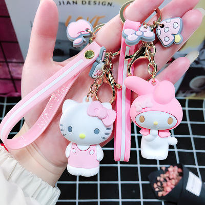 Cartoon Cute Soft Rubber 3D Silicone plastic Keychain