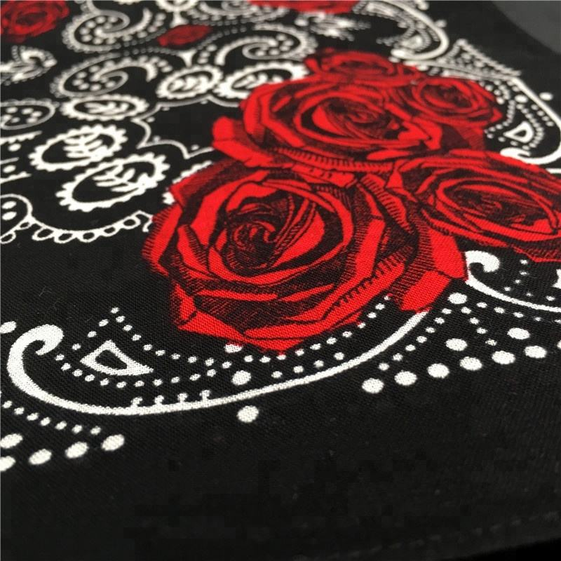 100% cotton indian style red axl rose black bandana
