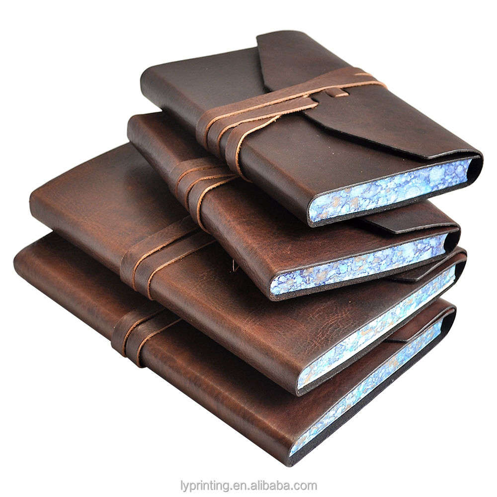 High quality PU leather notebook gift notebook leather diary book printing