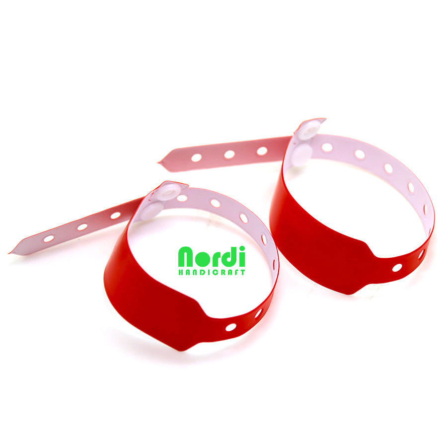 Top quality customized waterproof hospital patient ID wristbands vinyl wristband for promotion gifts