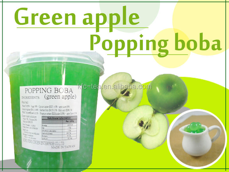Green Apple Topping <span class=keywords><strong>Popping</strong></span> Boba/<span class=keywords><strong>Popping</strong></span> Parel