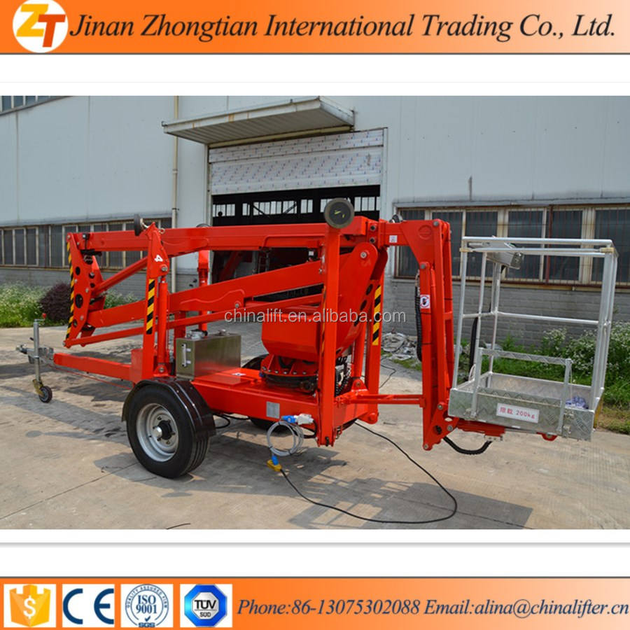 ZTG ZHONGTIAN 18M Towable boom lift for sale trailer mounted boom lift truck used for cherry picker