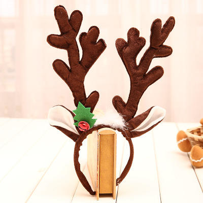 New Design Cheapest Christmas antler Headband festival Imported Christmas Ornament gifts