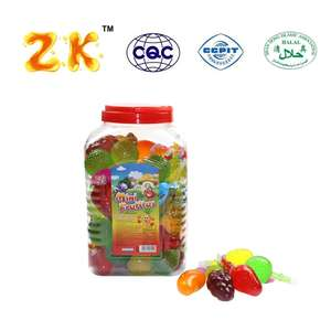 35G Mini Fruit Vorm Jelly/Gemengde Fruit Jelly