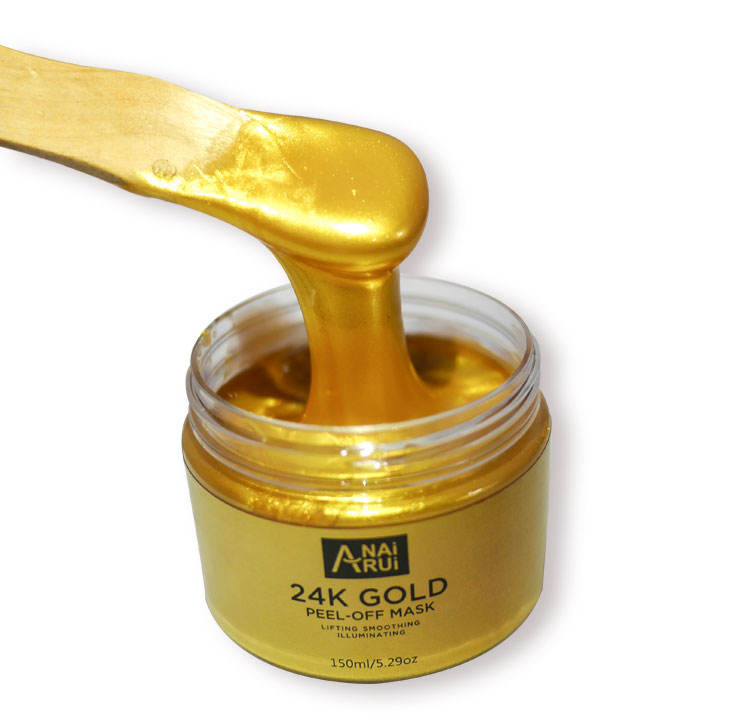 ฉลากส่วนตัว Anti Wrinkle และ Moisturizing Collagen Peel off Face Mask 24 K Peel off GOLD