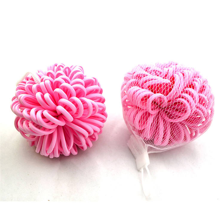 OEM colorful ball eva foam bath flower sponge