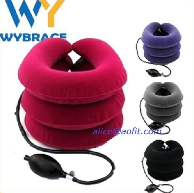 Neck Support Brace , Medical Soft Inflatable Cervical Neck Collar, Air Cervical Traction Device